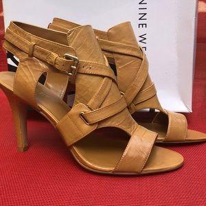 Nine West ALANAO Tan Leather Heel